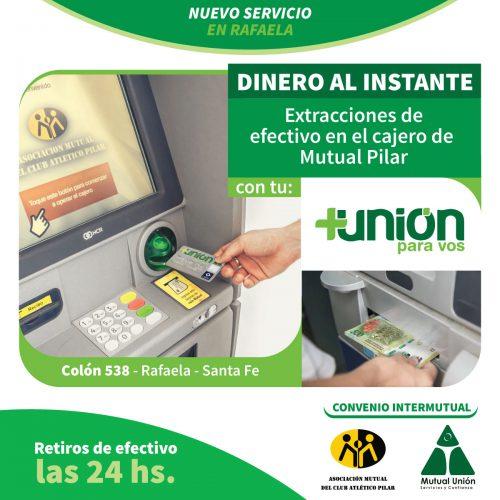 Convenio entre Mutual del Club Atlético Pilar y Unión de Sunchales - Extracciones por cajero automático